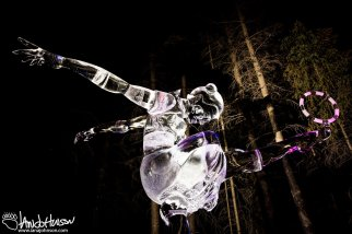 2016 World Ice Art Championship Single Block Contestant