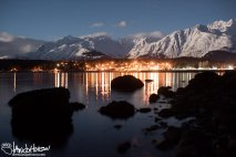 The city of Haines sits below jutting mountains.