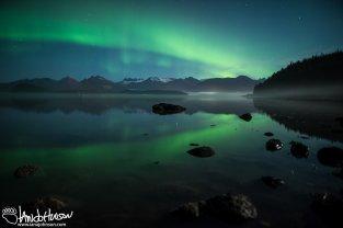 Aurora Borealis, Hoonah, Alaska, Milky Way