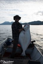 A large halibut caught near Hoonah.