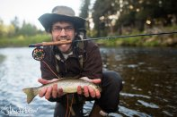 Although not subsistence, this beautiful cuthroat trout is one of many that I've wrangled on the fly rod.