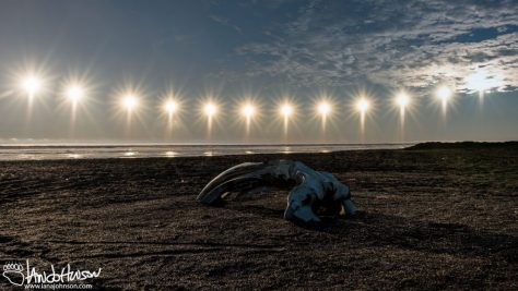 Barrow, Utqiaġvik, Alaska, Bowhead Whale, Sun, Composite