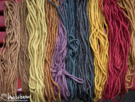 Fungi Dye, Yarn, Color, Red, Blue, Purple, Orange, Brown, Gray