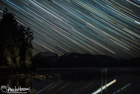 Star Trails, Alaska, Hoonah