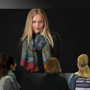 fine art gallery painting - Women's fashion wear Cashmere Silk Scarf Womens Fashion - Pleasures in living - Ian Anderson Fine Art
