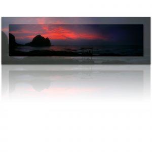 Piha sunset - Embers of the day - photo art