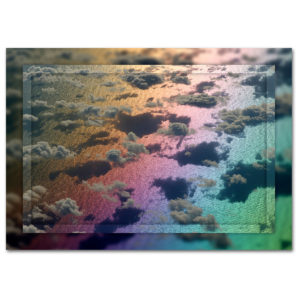 Rainbows end Digital photo art for print on canvas and corrugated iron garden art