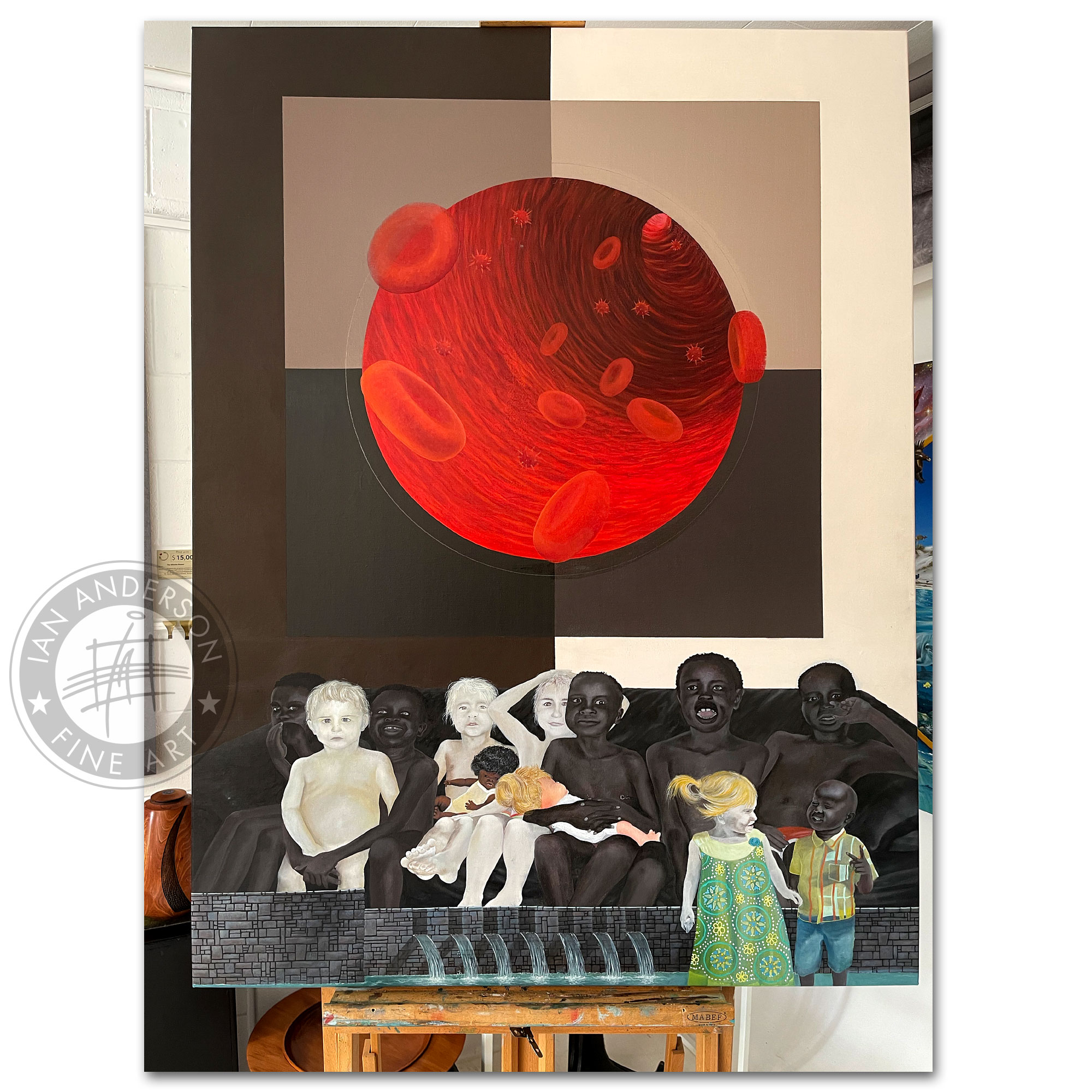 Blood veins peace prejudice The story of love and diversity - A provocative oil painting on ethnic diversity 9