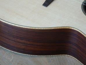 Figured maple binding