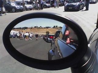 Heading for the track at Laguna Seca (phone pic)