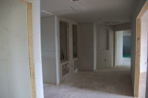 Upstairs hall with two cupboards for A/C units