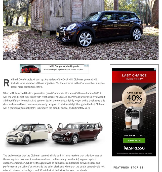 Motoringfile review of new Clubman
