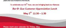 Customer Appreciation Luncheon May 5th 2017