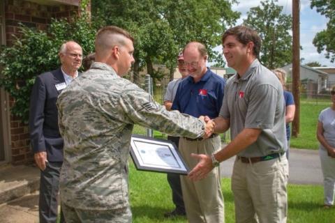 Patriot Award presentation for I & M associates Clay Mardre