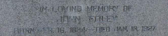 FOLEY John grave stone Mount Hope Cemetery Sec 20 Lot 360