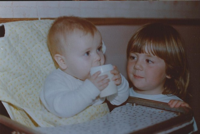 Jenna and Lisa Hadden, 1988 (photo by Ian Hadden)