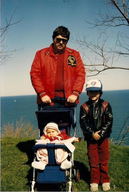 Yours Truly with my son and first daughter about a  year before my son started school