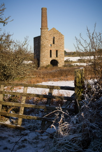 South Wheal Frances in the snow