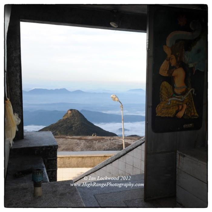 Temple doorway on Sri Pada's summit, looking south.