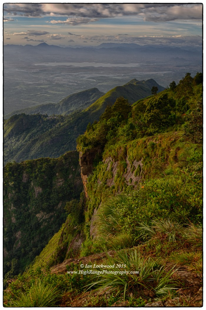 Looking south over the edge of Eagle Cliffs to the Vaigai Dam.