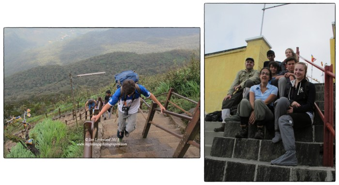 OSC's ES&S students on the last steps and then summit of Sri Pada.