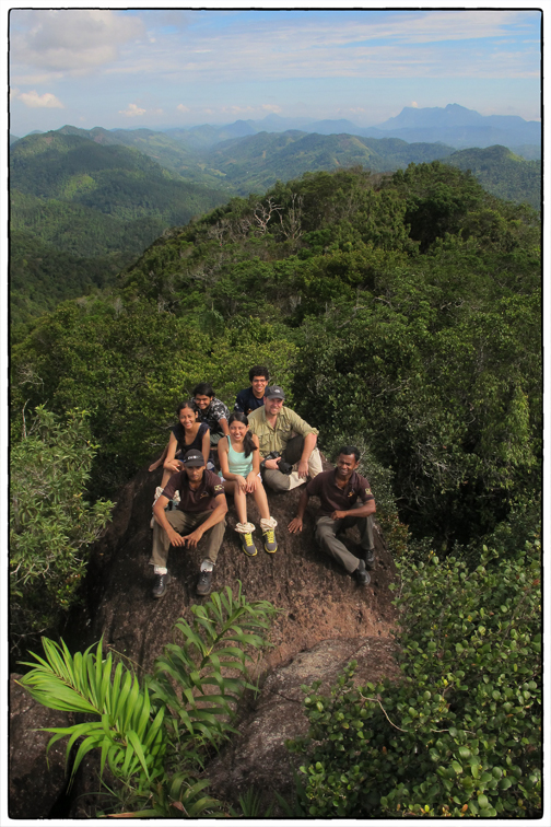 OSC Class of 2015 DP Geography group on Moulawella with their teacher and guides (Gunaratna & ). It was a remarkably clear day with uninterrupted views of Sri Pada. Picture courtesy of Uthpala.