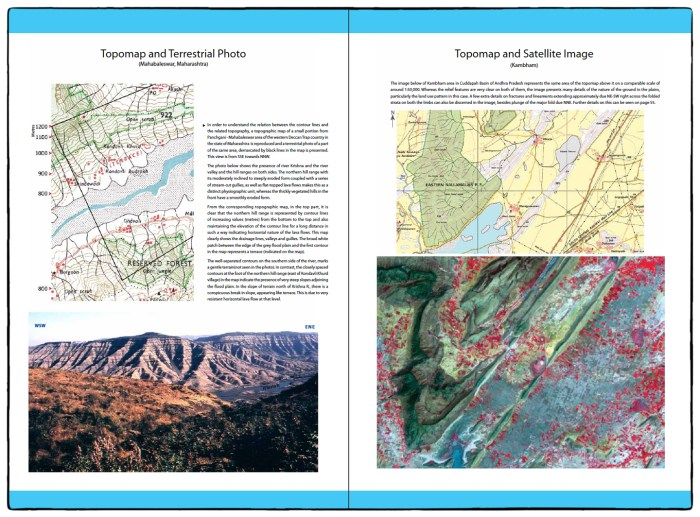 Introductory pages from Landforms of India from Topmaps and Images