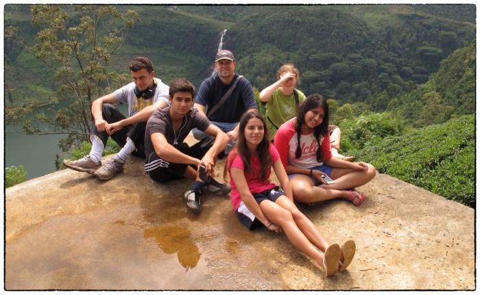 OSC's DP ES&S class and their teacher at the Adam's Peak Falls viewpoint.