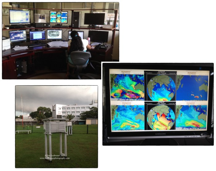 iPhone snapshots from the Sri Lanka Meteorological Department's head office in Colombo.