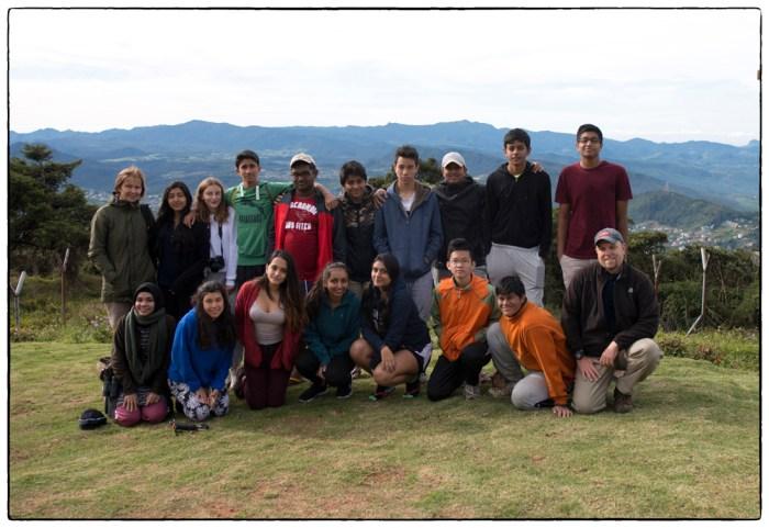 OSC Highlands microtrip group on Pidurutalagala, 29 January 2016.