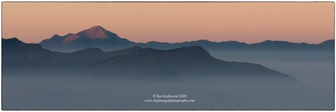 First light on Anai Mudi as seen from the Palani Hills.