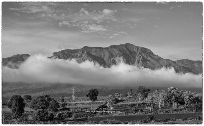 Looking south from Masinagudi to the Nilgiri Plateau.