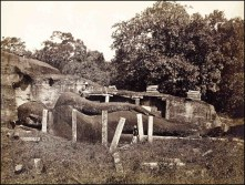 Joseph Lawton's Gal Vihara horizontal Buddha. Taken @ 1870.
