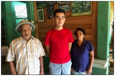 Lenny with Martin and his daughter Chandralatha at the Jungle Lodge (June 2019).