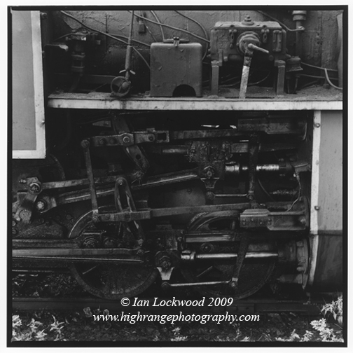 Detail of Nilgiri Mountain Railway steam locomotive