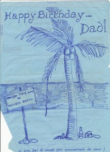 Mauritius Journal Dad Birthday Airmail Side One 1 August 1979