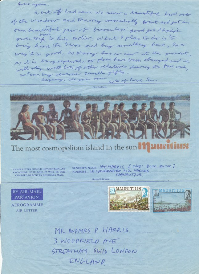 Mauritius Journal Letter Three Side Two 19 July 1979