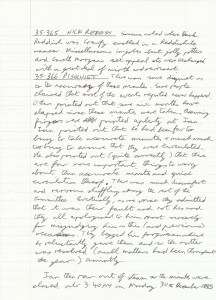 10 June 1985 Spoof Minutes Manuscript Page Four