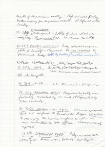 10 June 1985 Spoof Minutes Manuscript Page Two