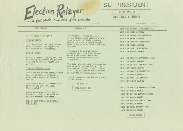 Fricker Pudding Election Relayer Side Two