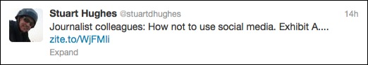 Stuart Hughes Tweet
