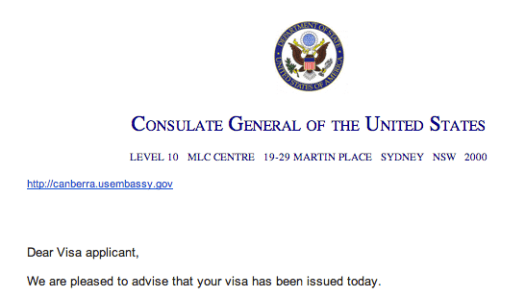 Australian US Embassy Approves Partner Visa