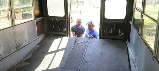 school bus conversion floor removal