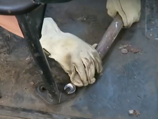 Torque Wrench using a Heavy Pipe - bus seat removal