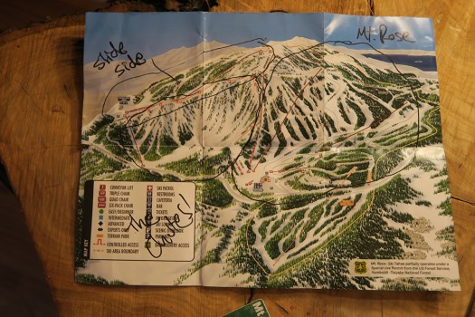 mt rose trail map