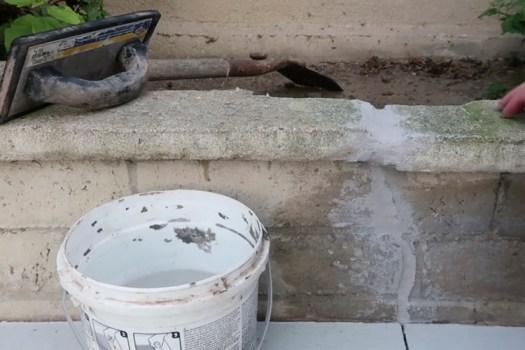 Brick Mortar Repair - First Layer of Mortar Repair