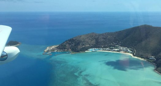 sea plane view of a whitsunday island