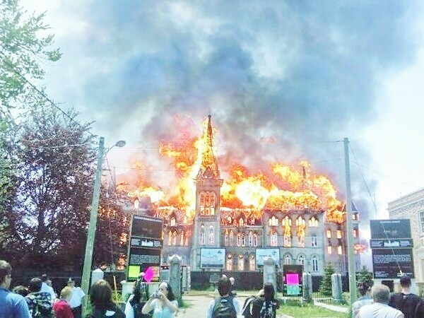 Alma burns, May of 2008