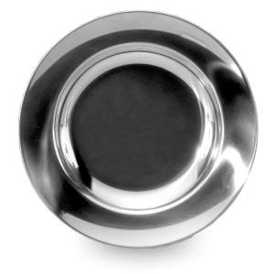 Lifeventure Stainless Steel Plate, Silver/ASSO
