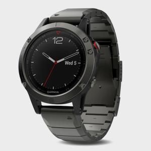 Garmin Fenix 5 Sapphire Multi-Sport GPS Watch With Metal Band, Black/DG